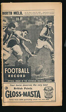 1968 VFL Football Record North Melbourne v Fitzroy April 27  Kangaroos Lions
