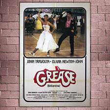 Manifesto Originale Grease 100x140 CM - John Travolta, Olivia Newton-John