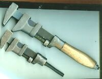 2 Vintage  Pipe / Monkey Wrench Wood Handle 12 INCH,NO HANDLE