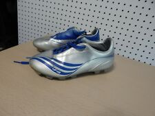 Youth Adidas F10 soccer cleats shoes - size 2 blue /gray