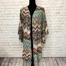 Fashion to Figure FTF Multicolor Plus Size 2XL Kimono or Swimsuit Coverup