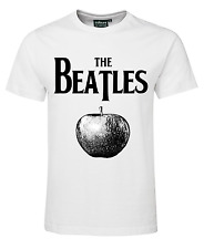 THE BEATLES BAND T-SHIRT ROCK MUSIC BALAD LUCY IN THE CONCERT WHITE BLACK COTTON