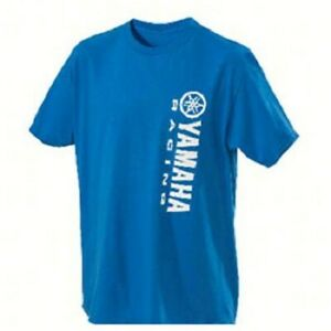 YAMAHA VERTICAL LOGO TEE BLUE MX MOTORCYCLE LOGO T-SHIRT SIZE MEDIUM WAS $29.99