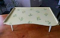 ANTIQUE VINTAGE WOOD BED TRAY YELLOW BOOK/EAT ADJUSTABLE PORTABLE PODIUM STYLE