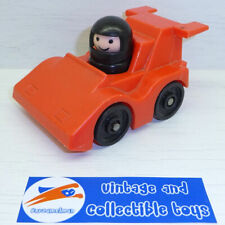 Fisher Price | Vintage Play Little People F1 Race Car w. Driver Figure Red 2450