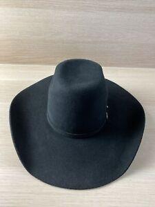 Ariat Cattleman Black Wool Cowboy Hat Kids Size M