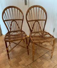 chaises rotin (2 en bon état + 2 a restaurer)