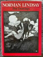 1974 PEN DRAWINGS, NORMAN LINDSAY w 56 PLATES, free EXPRESS shipping w/w