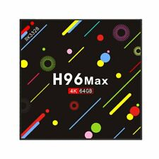 H96MAX Plus+ 4GB+64GB Android 8.1 Smart TV Box 4K HDR10 USB3.0 Quad Core 5G WiFi