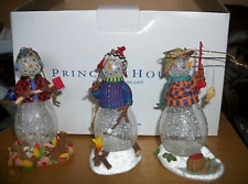 NEW Princess House Heritage 3 Crystal Snowpeople Ornaments 2379
