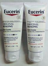 2 PACK Eucerin Original Healing Rich Creme 2oz Each
