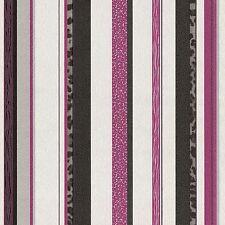 Vliestapete Streifen Leoprint schwarz pink silber Trend Edition P+S 13471-10 (2,