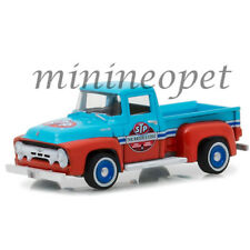 GREENLIGHT 27940 A 1954 FORD F-100 TRUCK STP 65th ANNIVERSARY 1/64 BLUE / RED