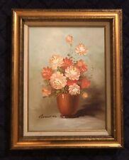 Artist Robert Cox (1934-2001) Oil Painting on canvas Still life, Flowers