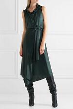 Vetements wrap around silk dress green Size S Balenciaga Y project Cutout Drape