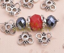 50pcs 10mm Tibetan Silver Bead Caps Charms Spacer Beads Jewelry Findings