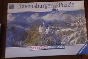 Ravensburger Neuschwanstein Castle 2000 Piece Panorama Jigsaw Puzzle - New!