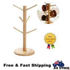 Wooden Mug Stand Tree Shape Rack Coffee Mug Drying Cups Storage Holder Hanger AU