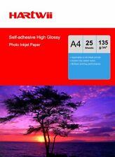 Hartwi 25 Sheet A4 135Gsm Self-adhesive Sticky high Glossy Photo Paper Printer