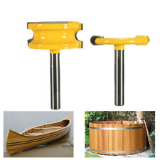 """2pcs 1/4"""" Shank Canoe Joint Flute & Bead Router Bits Woodworking Cutter"""