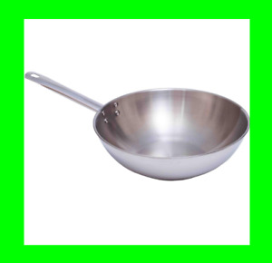 Pyrex Master Stainless Steel Wok 28cm Kitchen Pan All Hobs Cooking Frying Pan