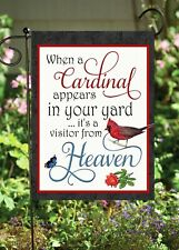 Cardinal in Your Yard Double Sided **GARDEN FLAG**  G1246  Quality