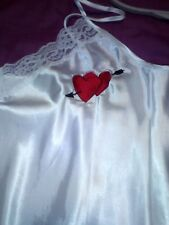 SATIN NIGHTDRESS CHEEKY ARSE/HEARTS SIZE 14/NIGHTDRESS/LINGERIE/VALENTINES