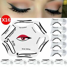 16pcs Eyeshadow Guide 6 in 1 Quick Cat Eyeliner Stencil Set Makeup Tool Liquid