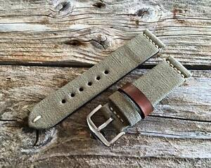 VINTAGE MILITARY CANVAS WATCH STRAP WW2 pam