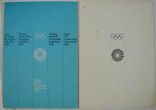 """Olympische Spiele 1972 München """"Heftung: Erscheinungsbild und Emblem"""" Otl Aicher"""