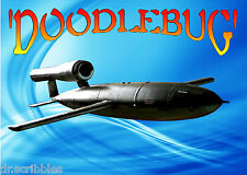 "Model Airplane Plan 19"".09 Control Line 'DOODLEBUG' Fi 103 Printed Plan &Article"