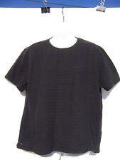 Kathie Lee Women's Black Striped Short Sleeve Shirt Size XL