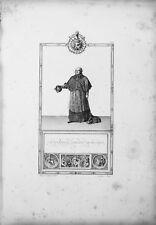 Cardinale Grand'Elemosiniere - Incisione Originale 1805-1815 - Napoleone Impero