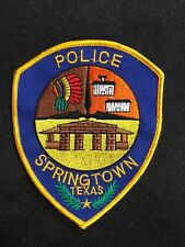 SPRING TOWN TEXAS POLICE  PATCH--B03