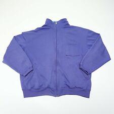 Vtg Gray Tag Nike Men's Large Purple Front-Zip Pocket Jacket Sweater