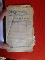 G.R, BRANTON MARYBOROUGH   MITRE 10 &  GAYS MARINE BUNCH OF RECEIPTS 1975