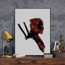 Watercolor Deadpool Superhero Movie Posters A4 Boy Room Wall Art Canvas Painting