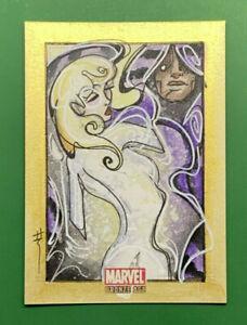 2011 Marvel Bronze Age SARA RICHARD Cloak & Dagger Sketch 1/1