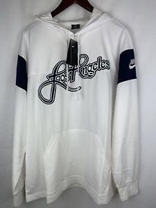 Nike Los Angeles Football Hoodie Men's Sz LARGE White/Blue BQ1655-100 NWT
