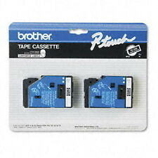 "Brother 3/8"" (9mm) Black on Clear Matte P-touch Tape for PT20 PT-20 Printers"