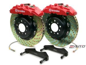 Brembo Front GT Big Brake Kit BBK 8 piston Red 380x34 Drill A8 D3 04-10
