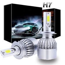 Pair H7 LED Headlight Bulb Conversion Kit High Low Beam Fog Lamp 6000K HID White