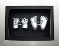 NEW Baby regalo grande Kit di colata in gesso a mano piede Stampo getta Sculture d'argento