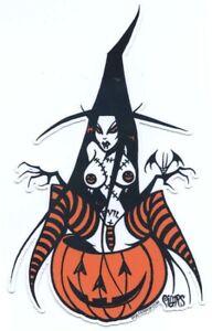 Evil Pumpkin Witch STICKER Decal Pigors PG76