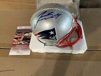 Jarrett Stidham Autographed Signed Mini New England Patriots Helmet JSA