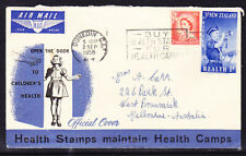 New Zealand 1958 Health First Day Cover - Dunedin to Melbourne
