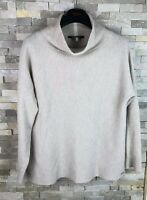Joules Ladies Size 12 Roll Neck Vscose Wool Cashmere Jumper Sweater