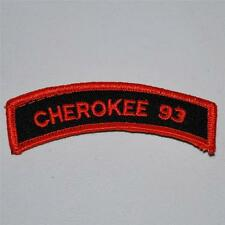 Cherokee 93 Biker Motorcycle Rally Patch For Leathers Vest Jacket Collectible