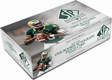 2012 Upper Deck SP Authentic Football Factory Sealed Hobby Box - 3 Autos Per Box