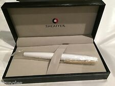 SHEAFFER TARANIS FOUNTAIN PEN WHITE LIGHTNING MEDIUM NIB NEW IN BOX RRP £150